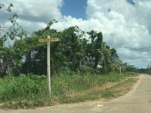 Te koop aangeboden eigendomsperceel door Oso Nanga Djari beedigd Makelaars en taxateurs in Suriname perceeel aan de Wateraardbeiweg -Houttuin